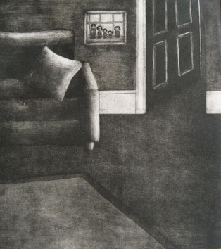 Still Lives series: Show-Room (2010) etching on paper - Pui Lee