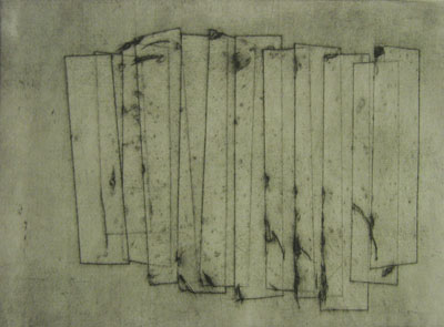 Wall (iii) (2011) collagraph  on paper - Pui Lee