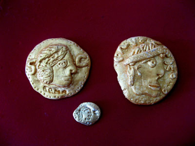 Example Roman coins that I made earlier