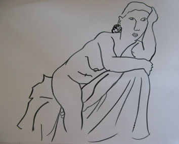 Life Drawing (2007) marker pen on paper - Pui Lee