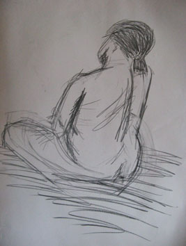 Life Drawing (2007) pencil on paper - Pui Lee