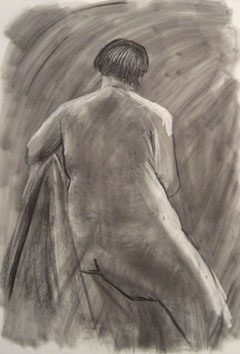 Life Drawing (2009) chalk and soot on paper - Pui Lee