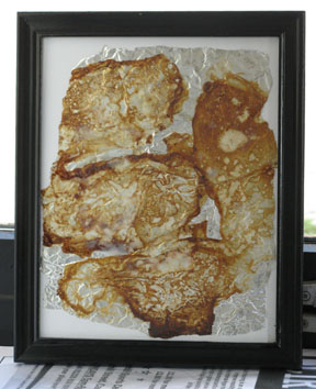 Untitled (bacon fat) (2007) bacon fat on foil - Pui Lee