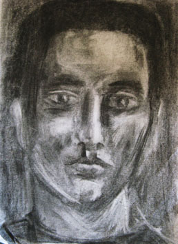 Untitled (male) (2006) charcoal on paper - Pui Lee