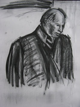 Untitled (man ii) (2007) charcoal on paper - Pui Lee
