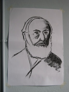 Drawing Study (old man) (2008) charcoal on paper - Pui Lee