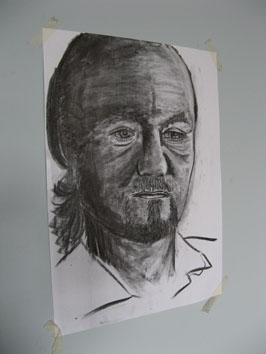 Drawing Study (man) (2008) charcoal on paper - Pui Lee