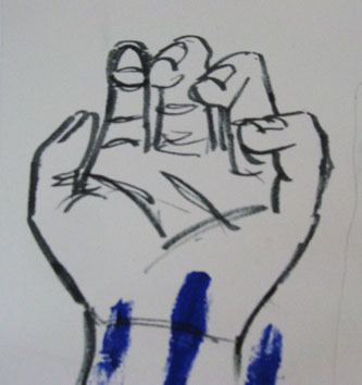 Study of Hand (2005) permanent marker on paper - Pui Lee