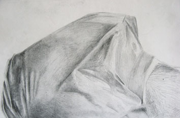 Study for The Human Landscape (Torso) (2004) pencil on paper - Pui Lee