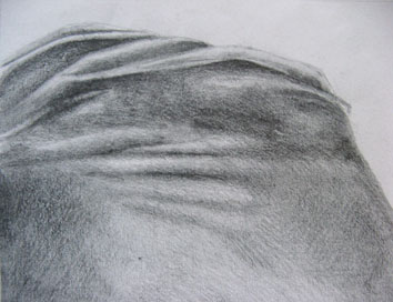Study for The Human Landscape (torso ii) (2004) pencil on paper - Pui Lee