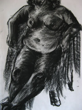 Life Drawing (2006) charcoal on paper