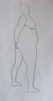 Life Drawing (2006) marker pen on paper - Pui Lee