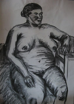 Life Drawing (2005) charcoal on paper - Pui Lee