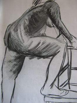 Life Drawing (2005) chalk and charcoal on paper