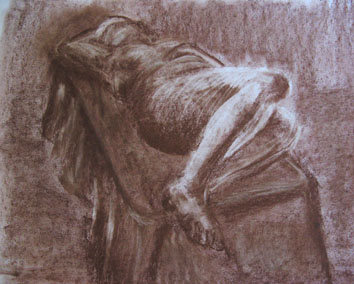 Life Drawing (2006) - pastel and chalk on paper - Pui Lee