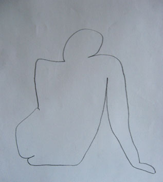 Life Drawing (2006) pencil on paper - Pui Lee