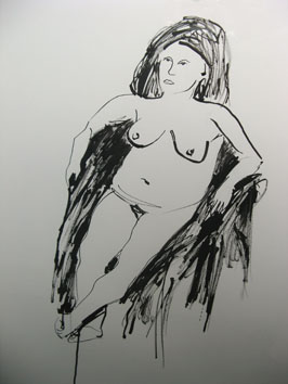 Life Drawing (2005) ink on paper - Pui Lee