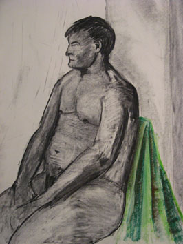 life drawing iv (2008) charcoal on paper - Pui Lee