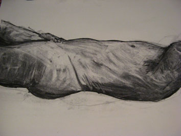 life drawing vi (2008) charcoal on paper - Pui Lee