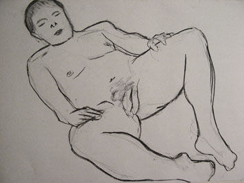 life drawing viii (2008) charcoal on paper - Pui Lee