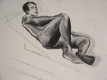life drawing v (2008) charcoal on paper - Pui Lee