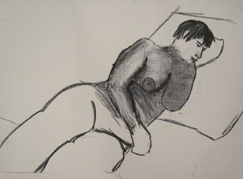 life drawing viiii (2008) charcoal on paper - Pui Lee