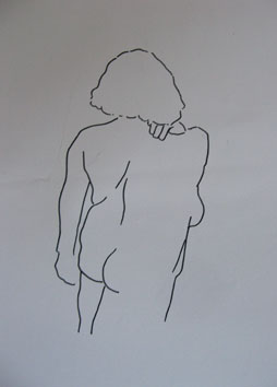 Life Drawing (Woman) (2006) marker pen on paper - Pui Lee