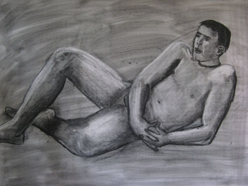Life Drawing Study (2007) charcoal, chalk and soot on paper