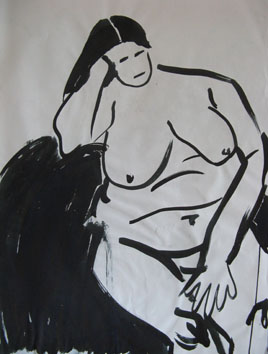 Life Painting (2006) ink on paper - Pui Lee