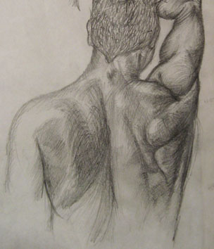 Study of Male Torso (2005) pencil on paper - Pui Lee