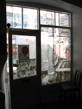 Inside view of whitewash window installation (2005) - Pui Lee