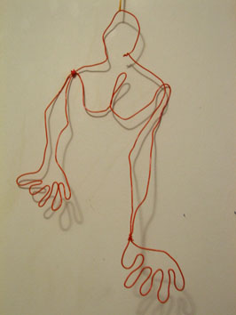 Life Drawing (woman) (2005) wire drawing - Pui Lee