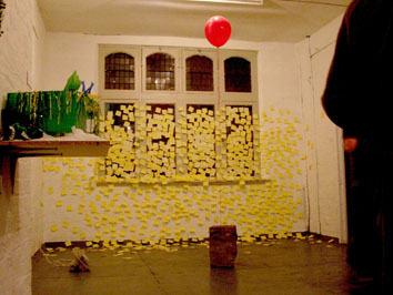 A Message to You (2006) post-it note installation - Pui Lee