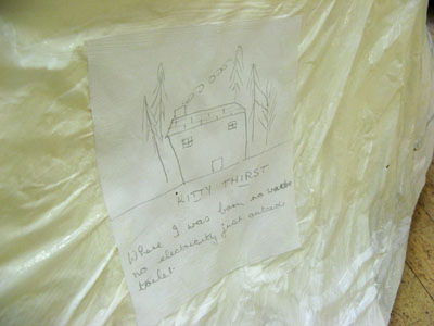 "Some of the hand-made drawings about ideas of ""home""."