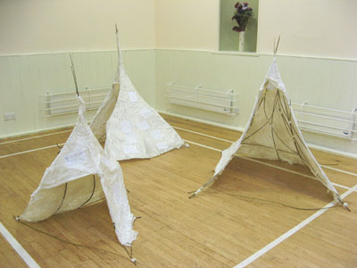 Some of the finished wigwams!