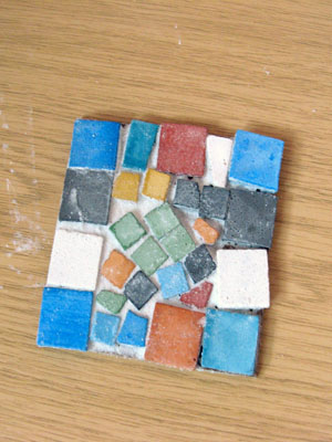 One of the mosaic tiles made by the participants :-)