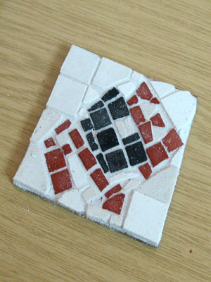 "An ""ace"" mosaic made by one participant!"