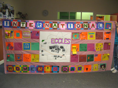 The final piece - a celebratory banner celebrating Eccles!