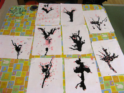 Chinese Blossom Paintings