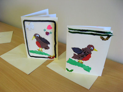 Some of the Christmas cards made during my art workshop!